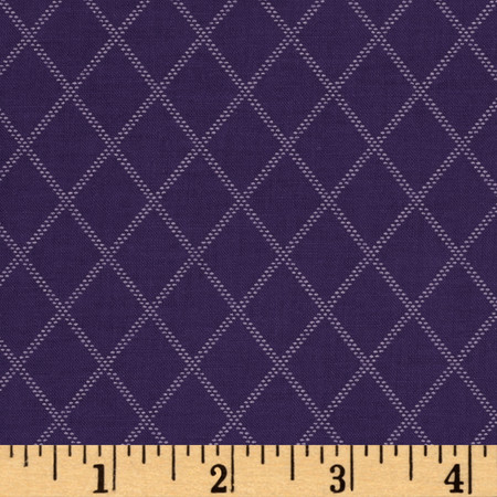 Diamonds Purple Fabric