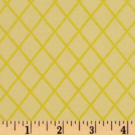 Diamonds Yellow Fabric By The Yard