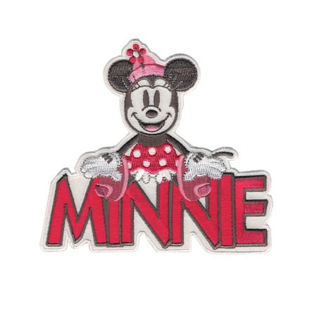 Disney Mickey Mouse Iron On Applique Minnie W/Name