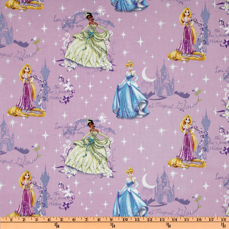 Disney Princess Beautiful Glow Scenic Purple Fabric