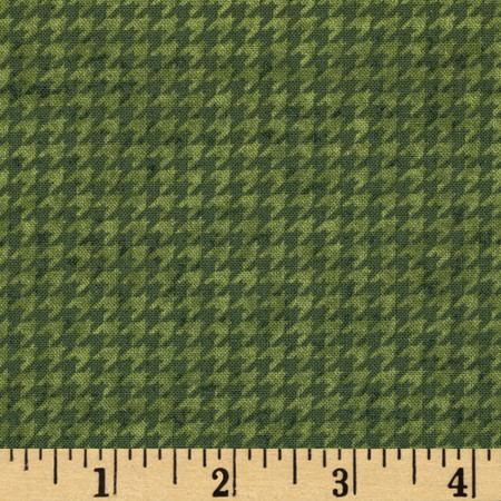 Do You See What I See Book Houndstooth Green Fabric