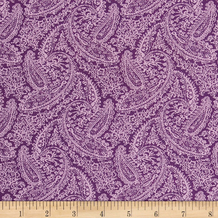 Dots and More Paisley Lavender Fabric By The Yard