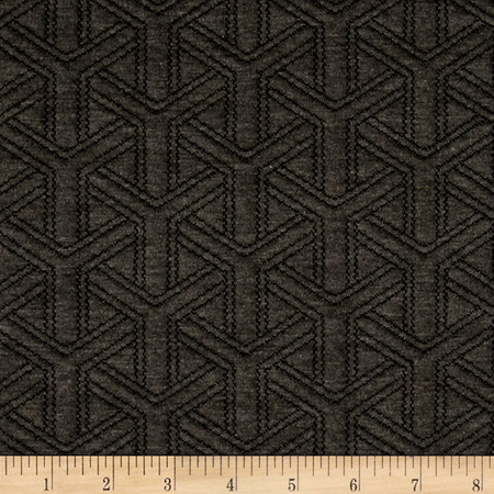 Double Knit Quilt Basket Weave Charcoal Heather Fabric