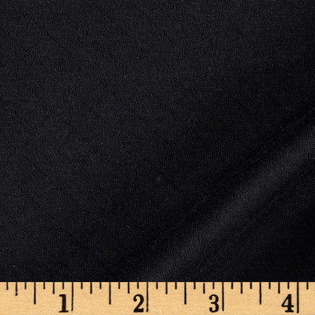 Double Knit Quilted Small Diamond Black Fabric By The Yard