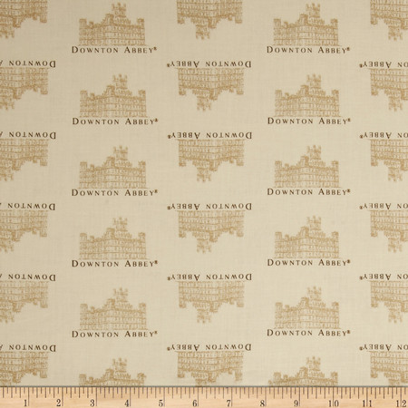 Downton Abbey II Small Castle Cream Fabric By The Yard