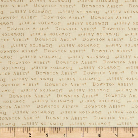 Downton Abbey II Words Cream Fabric By The Yard