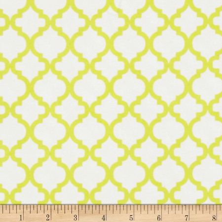 Dreamland Flannel Bella Sunshine White/Sunshine Yellow Fabric By The Yard