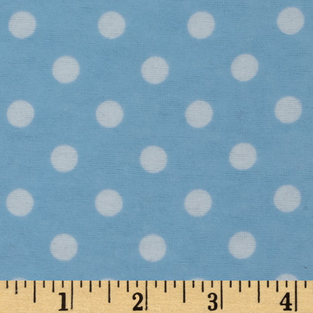 Dreamland Flannel Happy Dots Dreamy Blue Fabric By The Yard