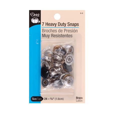 Dritz Heavy Duty Snaps 5/8'' Black