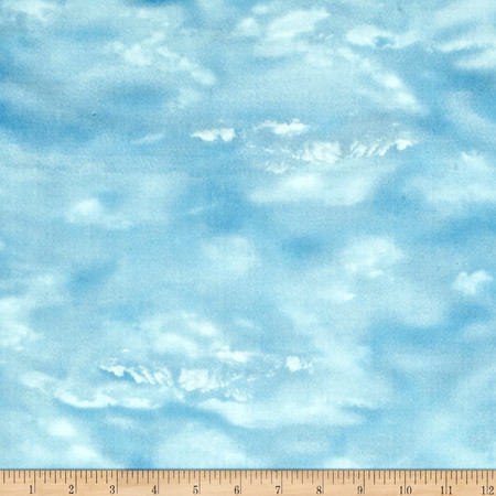 Duck Lake Sky Blender Sky Blue Fabric By The Yard