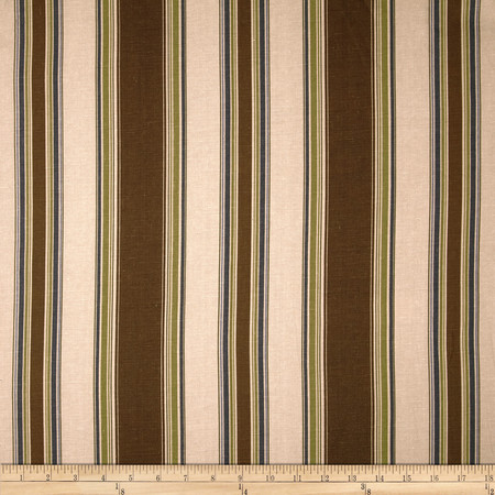 Duralee Banks Stripe Blend Brown Fabric