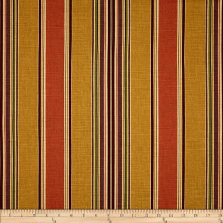 Duralee Basset Stripe Antique Gold Fabric