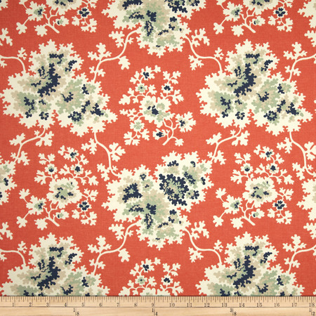 Duralee Cheryl Blend Coral Fabric