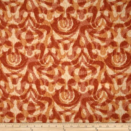 Duralee Davi Damask Persimmon Fabric