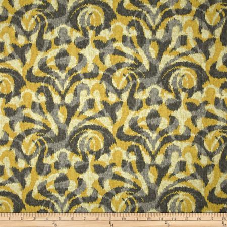 Duralee Davi Damask Yellow Fabric By The Yard