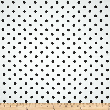 Duralee Dorothy Dot Twill White Fabric By The Yard