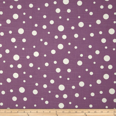 Duralee Dots Slub Grape Fabric By The Yard