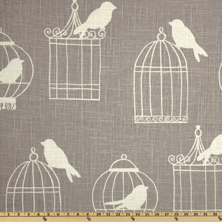 Duralee Home Birdcage Smoke Fabric By The Yard