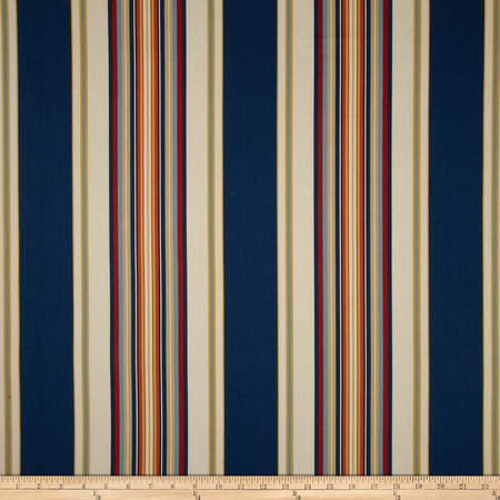 Duralee Home Claires Stripe II Twill Multi Fabric By The Yard