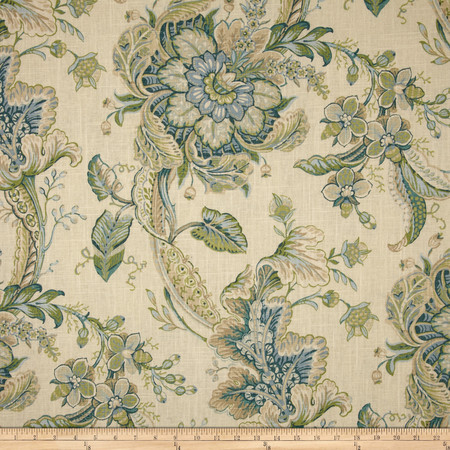 Duralee Home Clarence Light Blue Fabric