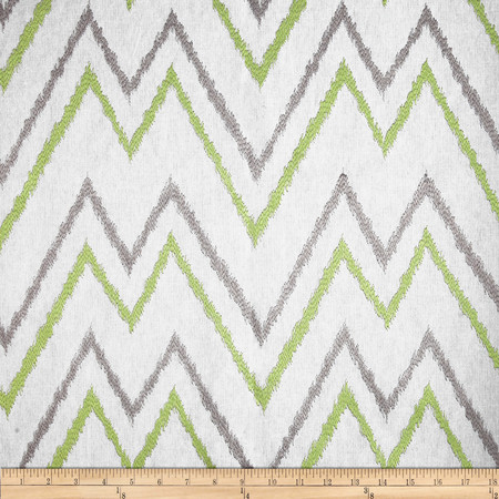 Duralee Home Embroidered Levi Chevron Celery Fabric By The Yard