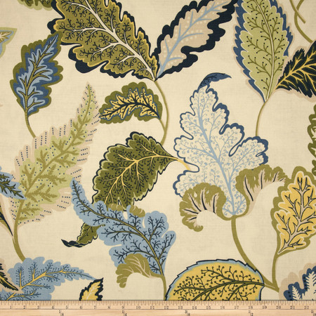 Duralee Home Noisette II Blue/Green Fabric By The Yard