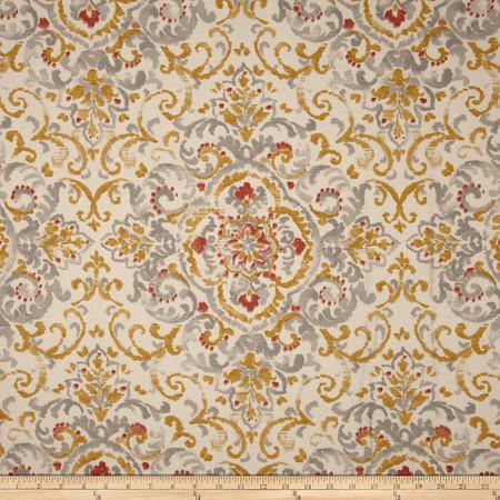 Duralee Home Quentin Damask Platinum Fabric