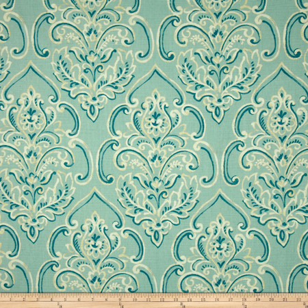 Duralee Home William Damask Baby Blue Fabric