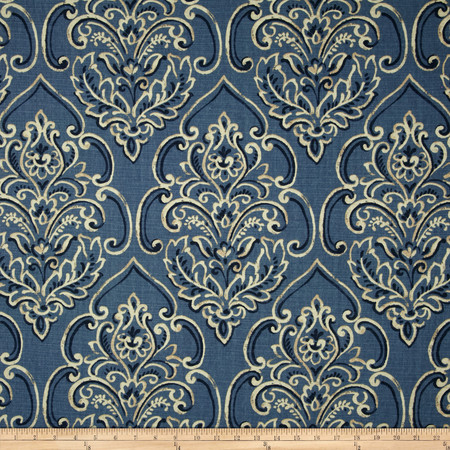 Duralee Home William Damask Blueberry Fabric