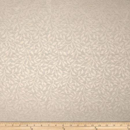 Duralee Leaf Jacquard Pewter Fabric