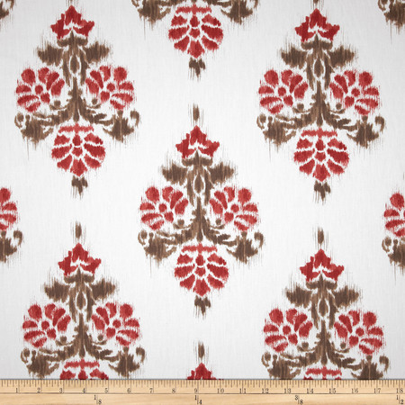 Duralee Manon Damask Twill Red Fabric