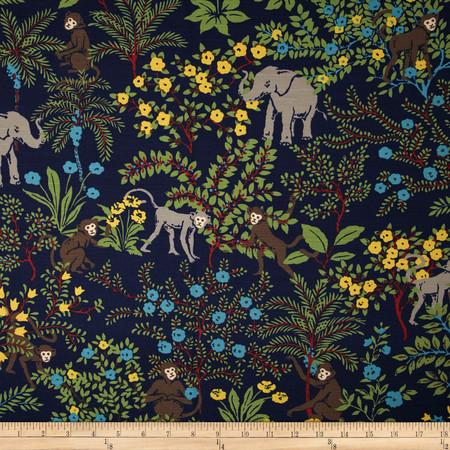 Duralee Niklas Monkey Blend Blue Fabric