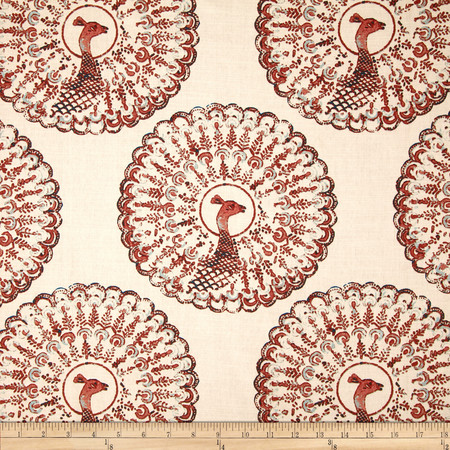 Duralee Penny Blend Coral Fabric By The Yard