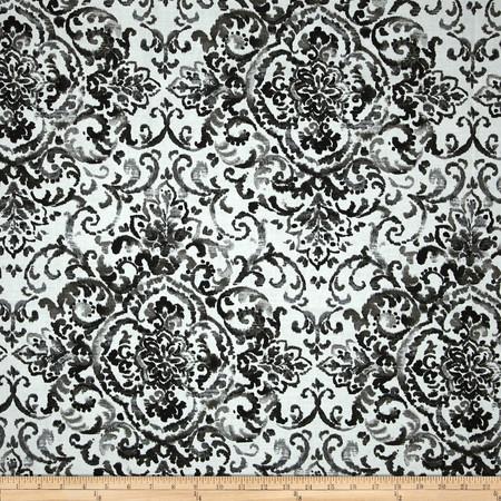 Duralee Quentin Slub Black Fabric By The Yard