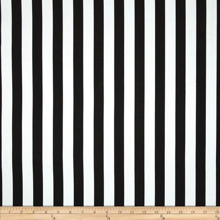 Duralee Quito Stripe Twill Black Fabric