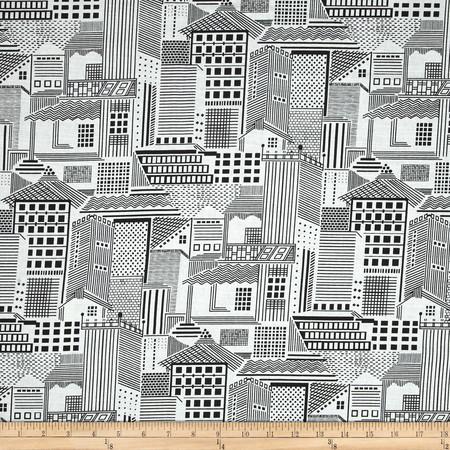 Duralee Skyline Blend Black Fabric