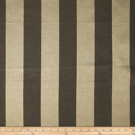 Duralee Wesley Ribbed Stripe Satin Jacquard Charcoal Fabric By The Yard