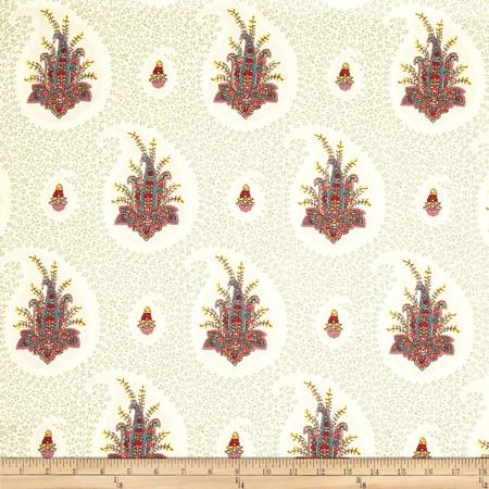 Duralee Zula Paisley Sea Green Fabric