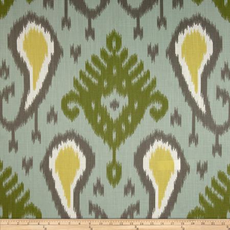 Dwell Studio Batavia Ikat Slub Aquamarine Fabric