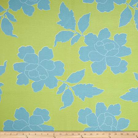 Dwell Studio Indoor/Outdoor New Peony Sky Fabric