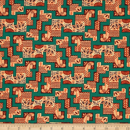 Egypt Nile Teal Fabric