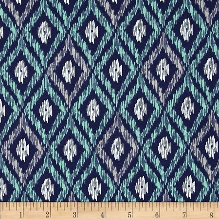 Elixir Ikat Navy Fabric