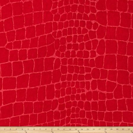 Embossed Felt Alligator 9'' x 12'' Craft Cut Red