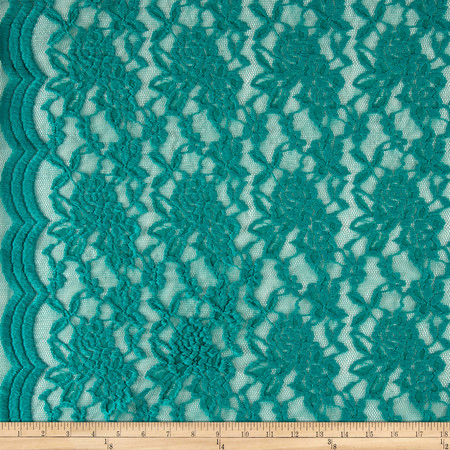 Embossed Lace Jade Fabric By The Yard