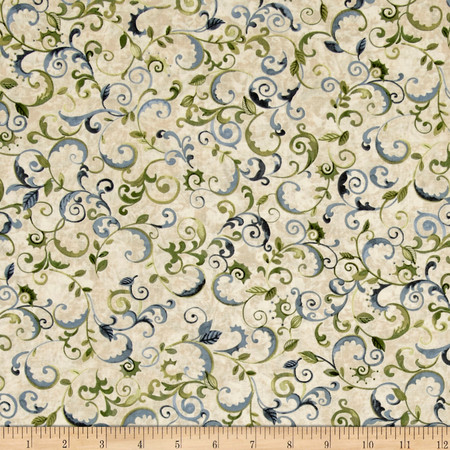 Enchanted Grove Vines Tan Fabric By The Yard
