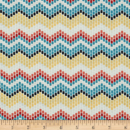 Enchanted Organic Seed Beed Chevron Multi Fabric