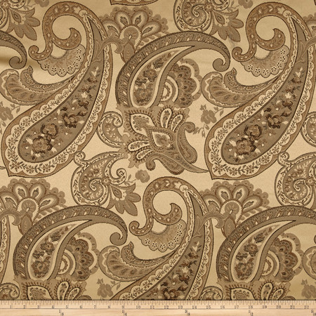 Eroica Candytuft Paisley Jacquard Antique Fabric By The Yard