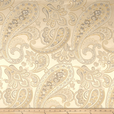 Eroica Candytuft Paisley Jacquard Delft Fabric By The Yard