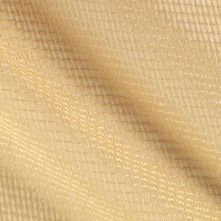 Eroica Check It Open Weave Sheer Wheat Fabric