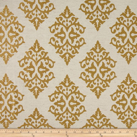 Eroica Chelsea Jacquard Gold Fabric By The Yard